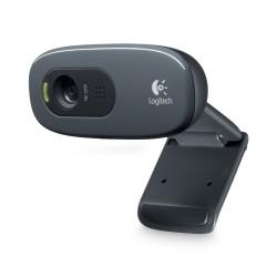 Logitech - C270 3MP 1280 x 720Pixeles USB 2.0 Negro, Gris cámara web