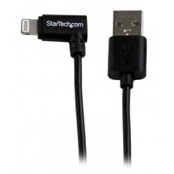 StarTech.com - Cable Lightning de 8 Pin Acodado a la Derecha de 2m USB 2.0 para Apple iPod iPhone 5 iPad - Negro