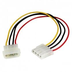 StarTech.com - Cable de 30cm de Extensión de Alimentación Corriente Molex LP4 - 4 pines Macho a Hembra