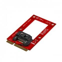 StarTech.com - Adaptador mSATA a SATA para Disco Duro o SSD - Tarjeta Conversora Mini SATA a SATA