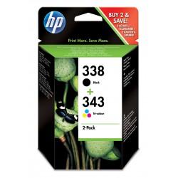 HP - 338/343 Original Negro, Cian, Magenta, Amarillo 2 pieza(s)