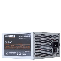 Hiditec - PSX 500W unidad de fuente de alimentación ATX Aluminio