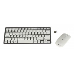 Tacens - Levis Combo V2 teclado RF Wireless Metálico, White