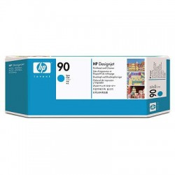 HP - Limpiador de cabezales de impresión y cabezal de impresión DesignJet 90 cian cabeza de impresora