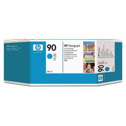HP - Cartucho de tinta DesignJet 90 cian de 400 ml