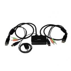 StarTech.com - Conmutador Switch KVM 2 puertos HDMI USB Audio con Cables Integrados - 1080p