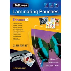 Fellowes - Glossy Pouches A3 100 pcs. 80mµ plastificador