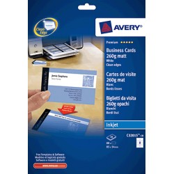 Avery - C32015-10 Inyección de tinta Papel 80pieza(s) tarjeta de visita