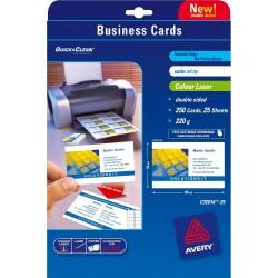 Avery - Quick&Clean 85 x 54 mm (x25) 250pieza(s) tarjeta de visita