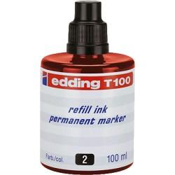 Edding - EDD FRASCO TINTA 100ML RO T-100-2