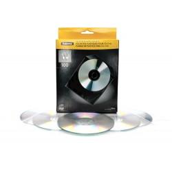 Fellowes - 9831201 funda para discos ópticos Funda cartera 1 discos Transparente, Blanco