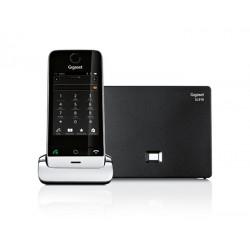 Gigaset - SL910 Teléfono DECT Negro, Plata Identificador de llamadas