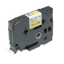 Brother - Gloss Laminated Labelling Tape - 12mm, Black/Yellow cinta para impresora de etiquetas TZ