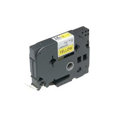 Brother - Gloss Laminated Labelling Tape - 24mm, Black/Yellow cinta para impresora de etiquetas TZ - 42463