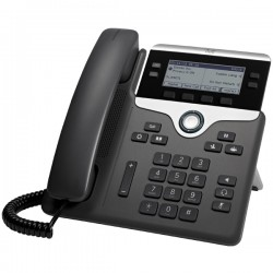 Cisco - 7841 teléfono IP Negro, Plata Terminal con conexión por cable LCD 4 líneas