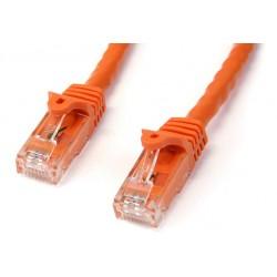 StarTech.com - Cable de Red Ethernet Cat6 Snagless de 3m Naranja - Cable Patch RJ45 UTP