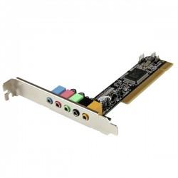 StarTech.com - Tarjeta de Sonido PCI con Sonido Envolvente Surround de 5.1 Canales