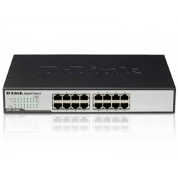 D-Link - DGS-1016D/E Unmanaged network switch Negro, Metálico switch