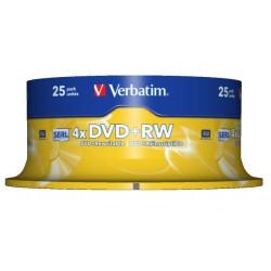 Verbatim - DVD+RW Matt Silver 4,7 GB 25 pieza(s)