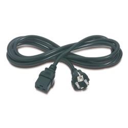 APC - AP9875 cable de transmisión Negro 2,5 m C19 acoplador CEE7/7
