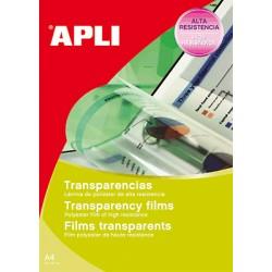 APLI - APL TRANSPARENCIAS CAJA 50UD A4 10580