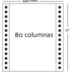 Fabrisa - Caja 1500h Papel 2h 240x11 Blanco autocopiativo