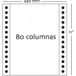 Fabrisa - Caja 2500h Papel 1h 240x11 Pautado azul