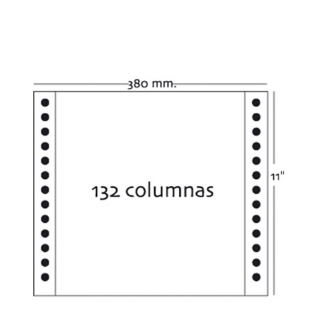 Fabrisa - Caja 2500h Papel 1h 380x11 Pautado azul