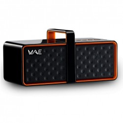Hercules - BTP03 Mini Black/Orange Stereo portable speaker 4W Negro, Naranja