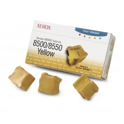 Xerox - Tinta sólida amarilla de marca 8500/8550 (3 barras)