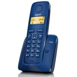 Gigaset - A120 Teléfono DECT Azul Identificador de llamadas
