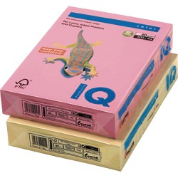 IQ - Papel multifunción color 500h 80 g. A4 Crema