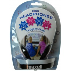 Maxell - Kids Safe Azul Supraaural auricular