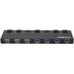 CoolBox - COO-UPH356A 5000Mbit/s Negro nodo concentrador