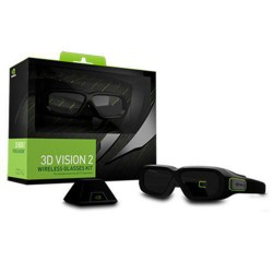 Nvidia - GeForce 3D Vision 2 Negro gafas 3D estereóscopico