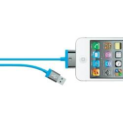 Belkin - MIXIT ChargeSync, 2m cable de teléfono móvil Azul USB A Apple 30-pin
