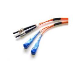 StarTech.com - Cable de Fibra Óptica Patch Multimodo 62,5/125 Dúplex ST a SC de 2m – Naranja