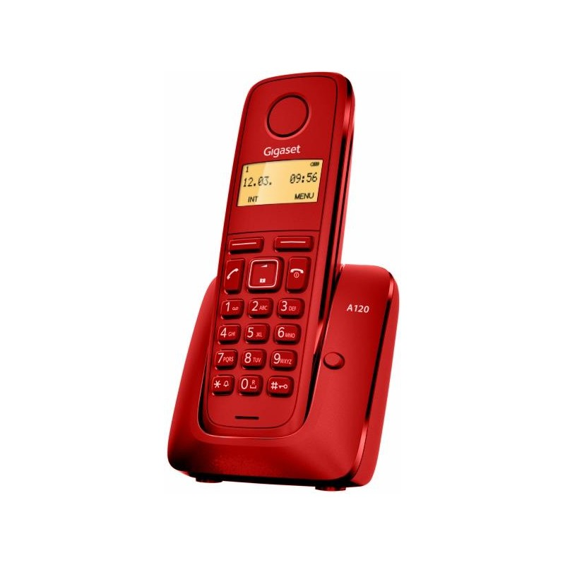 Gigaset - A120 Teléfono DECT Rojo