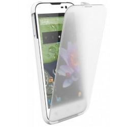 """bq - 11BQFUN151 funda para teléfono móvil 11,4 cm (4.5"""") Libro Transparente, Blanco"""