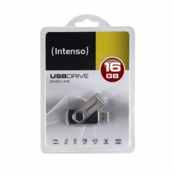 Intenso - Basic Line unidad flash USB 16 GB USB tipo A 2.0 Negro, Plata