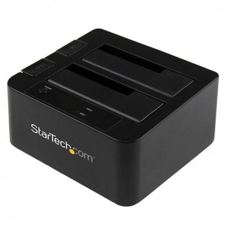 StarTech.com - Docking Station eSATA USB 3.0 con UASP de 2 Bahías para Disco Duro o SSD SATA de 2,5 o 3,5 Pulgadas