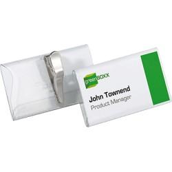 Durable - Portanombres con pinza dentada 40 x 75 mm