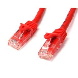 StarTech.com - Ethernet Cat6 Sin Enganche de 5m Rojo - Cable Patch Snagless RJ45 UTP