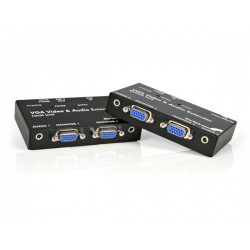 StarTech.com - Extensor de Vídeo VGA y Audio mini-jack por cable cat5 UTP Ethernet - Adaptador