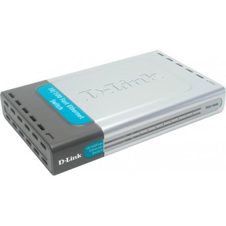 D-Link - DES-1008D Unmanaged network switch Fast Ethernet (10/100) Negro
