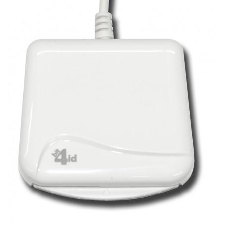 Bit4id - miniLector EVO Interior USB 2.0 Color blanco lector de tarjeta inteligente