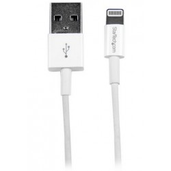 StarTech.com - Cable de 1m USB a Conector Apple Lightning Delgado de 8 Pines para iPod Pad iPhone - Blanco
