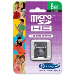 Integral - 8GB microSD + SD Adapter 8GB MicroSDHC memoria flash