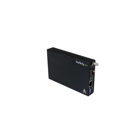 StarTech.com - Conversor de Medios Gigabit Ethernet UTP RJ45 a Fibra con una Ranura SFP Disponible