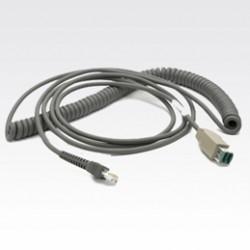 Zebra - USB Cable CBA-U08-C15ZAR 4.5m Gris cable USB